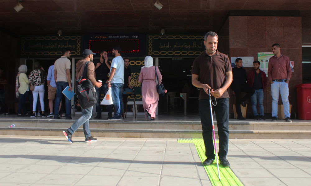 U. of Jordan Opens a 'Safe Pathway' for Blind Students