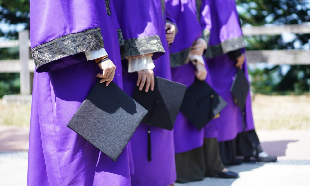students about to graduate