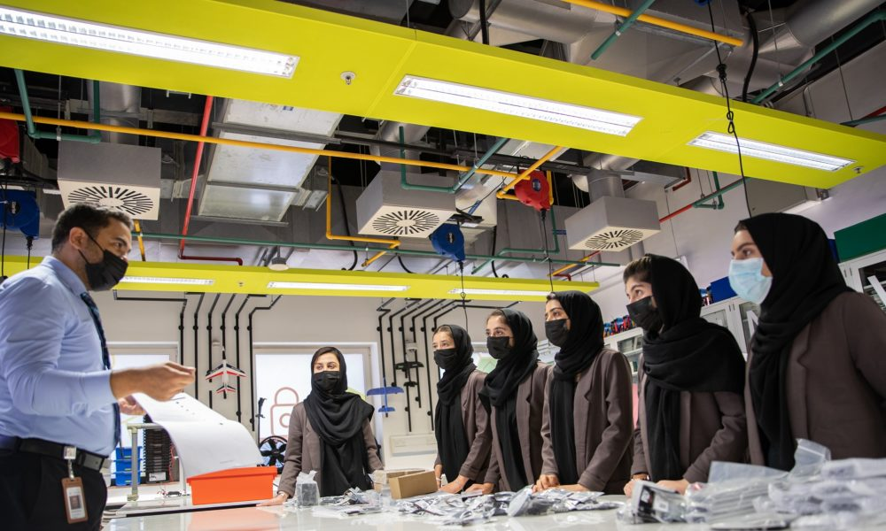 Afghanistan's All-Female Robotics Team Continues Building Robots in Qatar